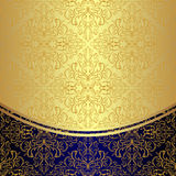 Luxury Background decorated the golden floral Pattern. Stock Photography
