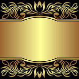 Luxury Background decorated the golden royal Borders - Invitation design. Is presented Royalty Free Stock Image