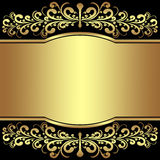 Luxury Background decorated the golden royal Borders. Stock Image