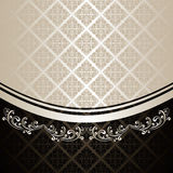 Luxury Background decorated a Vintage ornament. Royalty Free Stock Images