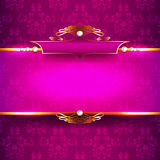 Luxury background with diamonds and ornaments Royalty Free Stock Photos