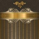 Luxury background with elegant border and patterns. Royalty Free Stock Photo