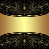 Luxury Background with elegant golden Borders and Place for Text - Invitation design Stock Images