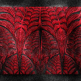 Luxury background with embossed fractal pattern on leather Royalty Free Stock Photos