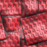 Luxury background with embossed pattern on leather Royalty Free Stock Image