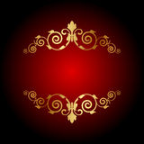 Luxury background with gold ornament Royalty Free Stock Photography