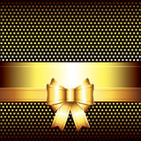 Luxury background with golden bow Stock Images