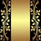 Luxury Background with golden floral Borders. Stock Images
