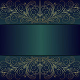 Luxury Background with golden lacy Borders and Place for Text - invite design Royalty Free Stock Images