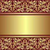 Luxury Background with golden ornamental border. Stock Photography