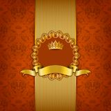 Luxury background with ornament, frame Royalty Free Stock Image