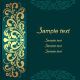 Luxury Background with ornamental Border for invite design Royalty Free Stock Photos