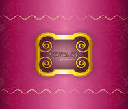 Luxury background - vintage frame on silk Stock Photos