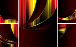 Luxury_backgrounds_set_of_5_pieces Lizenzfreie Stockfotos