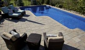 Luxury backyard Royalty Free Stock Photo