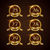 Luxury Badge Anniversary 25-30 Vector Illustrator Eps.10 Royalty Free Stock Photography