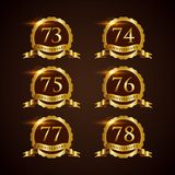 Luxury Badge Anniversary 73-78 Vector Illustrator Eps.10 Stock Photo