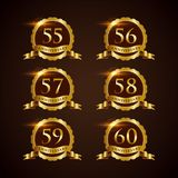 Luxury Badge Anniversary 55-60 Vector Illustrator Eps.10 Stock Photo