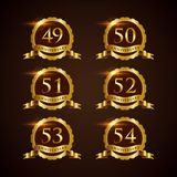 Luxury Badge Anniversary 49-54 Vector Illustrator Eps.10 Royalty Free Stock Image