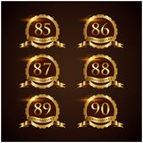 Luxury Badge Anniversary 49-54 Vector Illustrator Eps.10. Luxury Badge Anniversary 49-54 Logo Vector Royalty Free Stock Photo