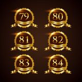 Luxury Badge Anniversary 79-84 Vector Illustrator Eps.10. Luxury Badge Anniversary 79-84 Logo Vector stock illustration