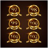 Luxury Badge Anniversary 79-84 Vector Illustrator Eps.10 Stock Photography
