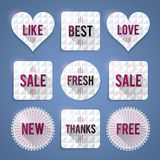 Luxury badges and labels in various shapes Royalty Free Stock Image