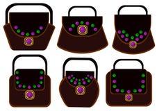 Luxury bag set Royalty Free Stock Photography