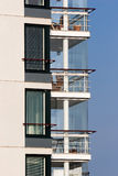 Luxury balconies. Glassy balconies of the new luxury apartment building Stock Images