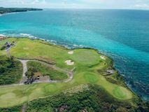 Bali Golf Fields Aerial View royalty free stock photo