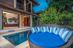 Luxury Bali villa Royalty Free Stock Images