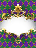 Luxury banner Mardi Gras Royalty Free Stock Image