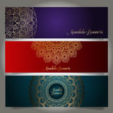 Luxury banners with mandala designs Royalty Free Stock Photography