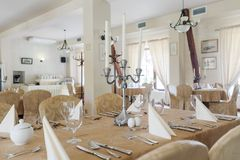 Luxury banquet hall Royalty Free Stock Image