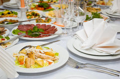 Luxury banquet table Stock Image