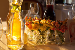Luxury banquet table Royalty Free Stock Photography