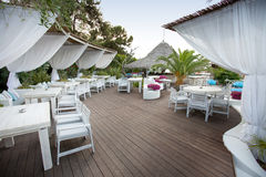 Luxury bar at beach stock image