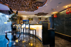 Luxury bar interior Stock Photo