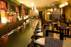 Luxury bar restaurant. A luxury bar restaurant with comfortable chairs Stock Photos