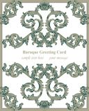 Luxury Baroque card ornament background Vector. Rich imperial intricate elements. Victorian Royal styles Royalty Free Stock Images