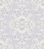 Luxury Baroque ornament background Vector. Rich imperial intricate elements. Victorian Royal style pattern Royalty Free Stock Photo