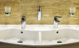 Luxury bath tub and faucet Stock Images