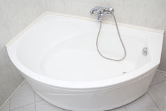 Luxury bath tub in white bathroom Stock Photography
