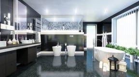 Luxury Bathroom Design vector illustration
