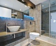 Luxury bathroom. With stone hand wash basin royalty free stock photos