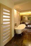 Luxury Bathroom. Interior photo of a luxury bathroom in an apartment stock photos