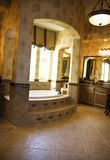 Luxury Bathroom. In million dollar home Stock Image