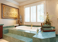 Luxury Bathroom. Ornate bathroom in luxury home royalty free stock photos