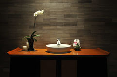 Luxury bathroom. Photo taken in a hotel of china royalty free stock image