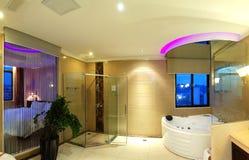 Luxury bathroom. In the hotel stock photo